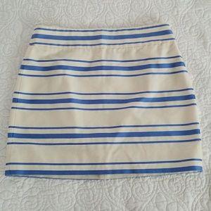 J. Crew Blue Striped Mini Skirt